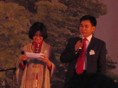 Nhi & sa femme Nhu au Gala pour le tsunami
