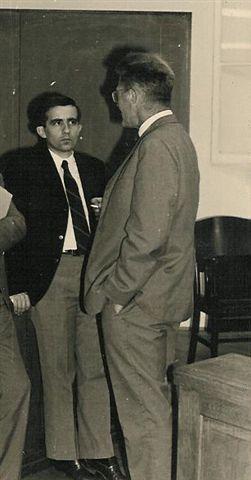 Jean-Claude Didelot et René Péchard à Orly Septembre 1968